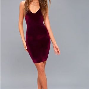 Velvet body con dress